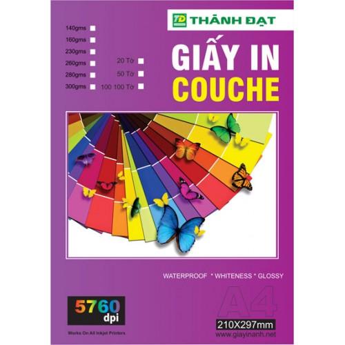 Giấy In Couche Định Lượng 300g Khổ A4