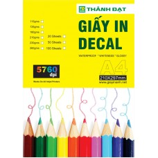 Giấy In Decal A3 Đế Trắng