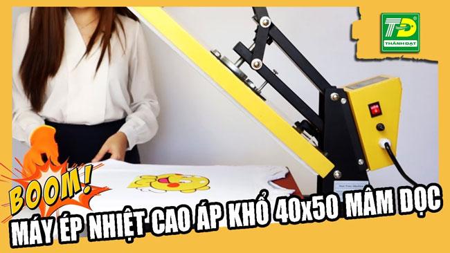 máy ép nhiệt phẳng cao áp khổ 40x50cm