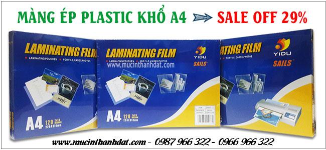 MÀNG ÉP PLASTIC A4 ĐỊNH LƯỢNG 37 MIC